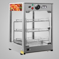 Heated Pizza Display Cabinet Food Warmer Countertop Glass ...