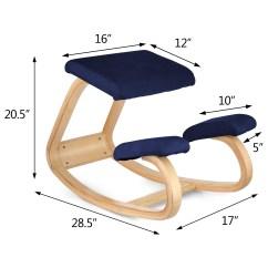 Balance Posture Chair Incline Gym Ergonomic Kneeling Bentwood Steel Frame Correct