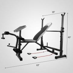 Gym Bench Press Chair Lift Companies Weight Set Home Deluxe With 660lbs Weights