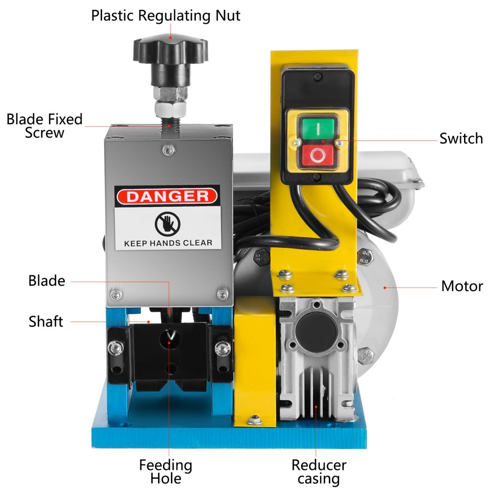 medium resolution of details about 220v powered electric wire stripping machine cable stripper automatic peeler