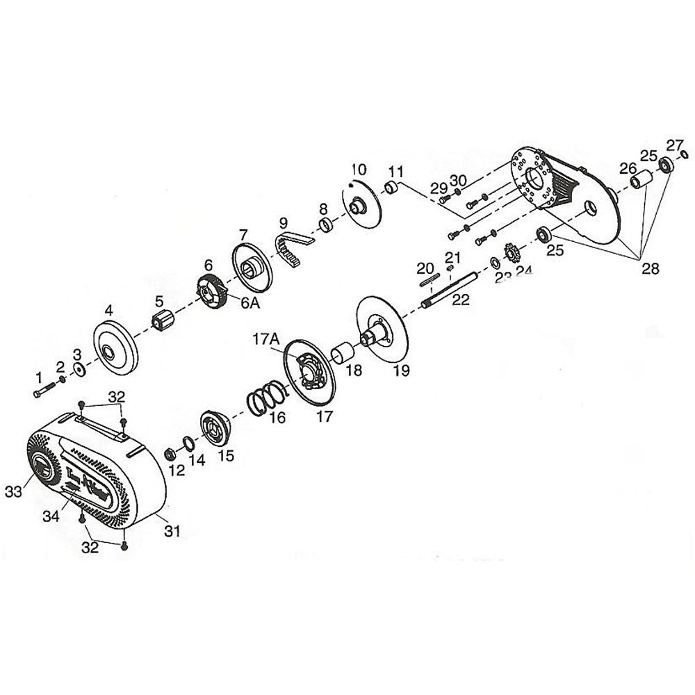 Go Kart Torque Converter Kit CVT Clutch 10 Teeth 10T 3/4