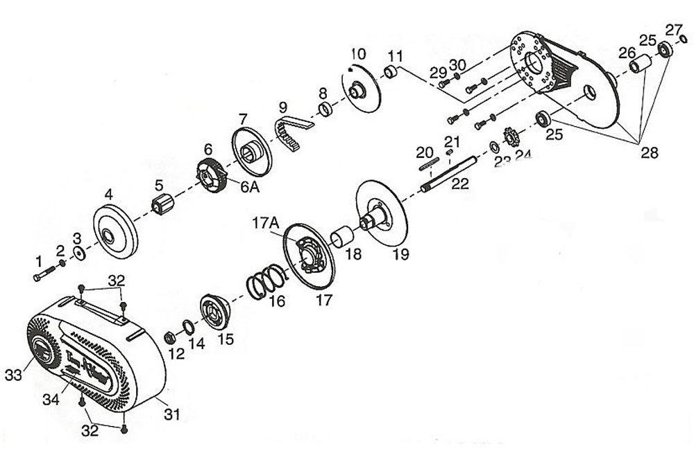 US Go Kart Minibike Fun Kart Clutch 3/4