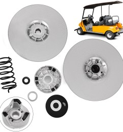 details about yamaha gas golf cart driven clutch kit g2 g22 secondary power g16 heavy duty [ 1600 x 1600 Pixel ]
