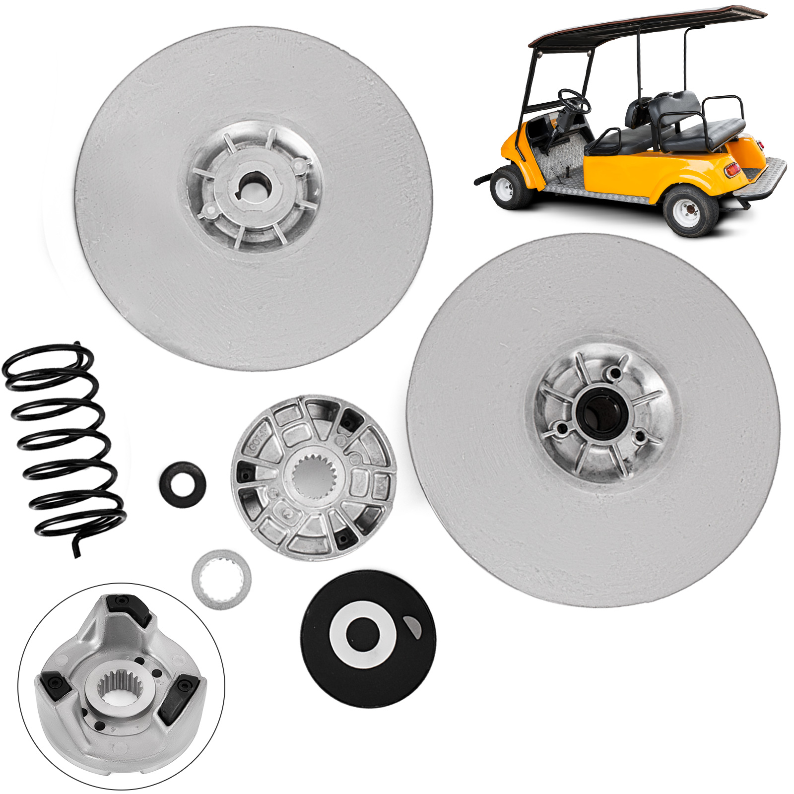 hight resolution of details about yamaha gas golf cart driven clutch kit g2 g22 secondary power g16 heavy duty