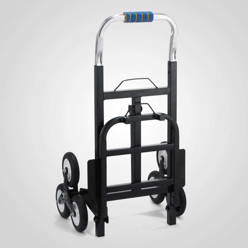 190kg portable steel frame six-wheeled stair climbing hand