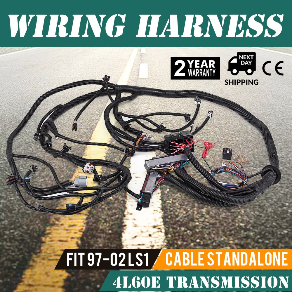 medium resolution of details about pop 97 02 dbc ls1 standalone wiring harness with 4l60e non electric trans cheap