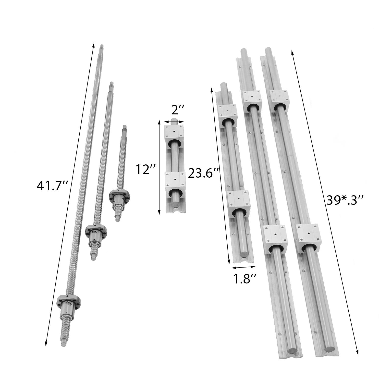 SBR20 Rail linéaire+3 Vis à billes RM1605-350/650/1050mm