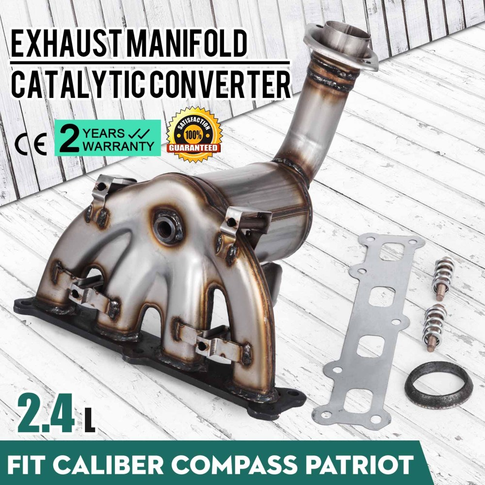 medium resolution of details about 2007 2010 jeep compass patriot 2 4l awd exhaust manifold w catalytic converter