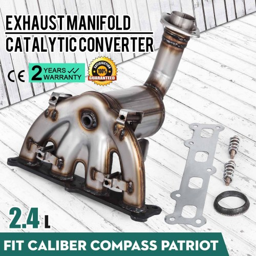 small resolution of details about 2007 2010 jeep compass patriot 2 4l awd exhaust manifold w catalytic converter
