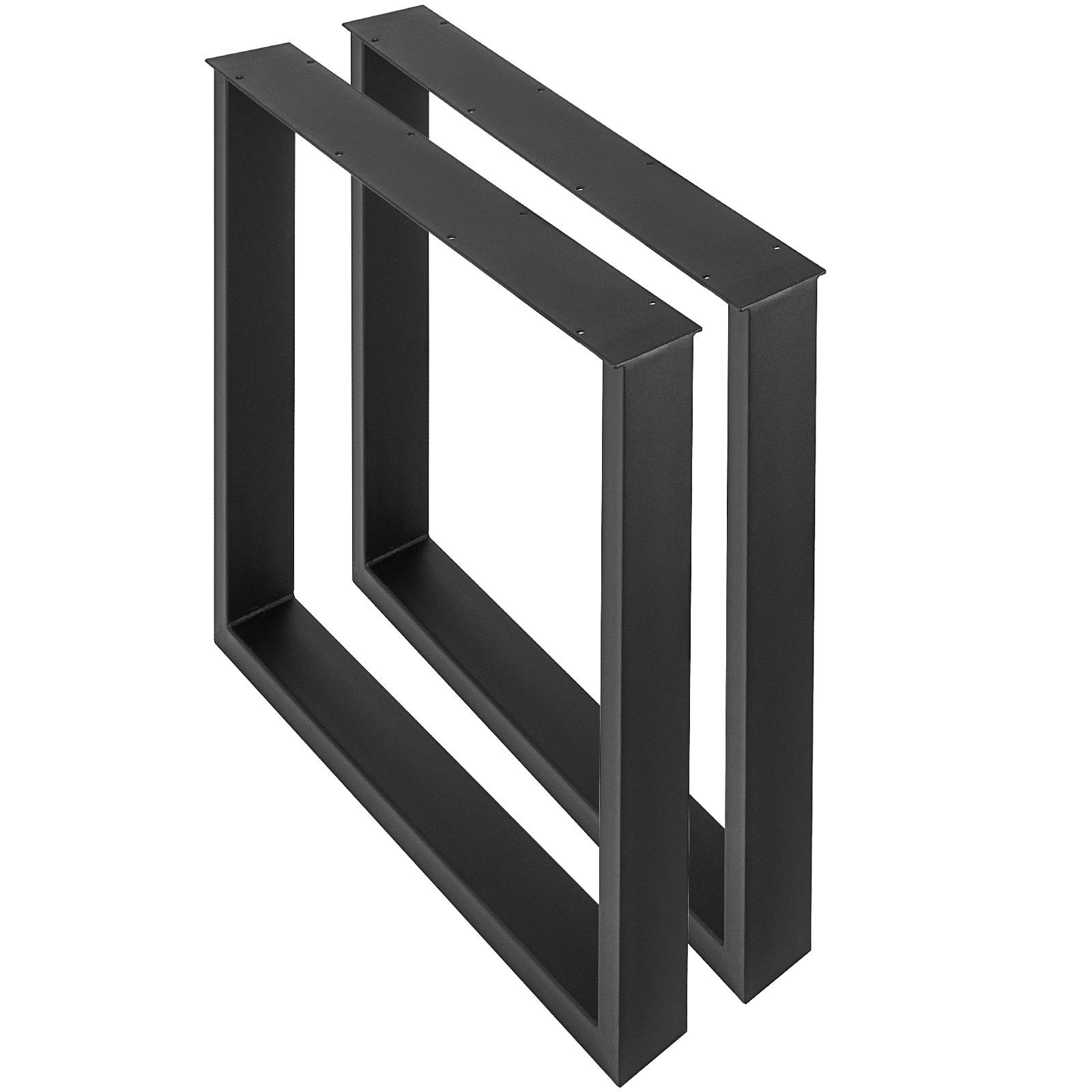2x pieds de table noir rectangulaire