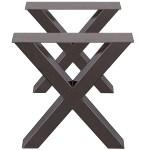 2x Table Legs X Style Dining Table Leg Sofa Cabinet Heavy Duty Metal Steel Home Garden Furniture Home Garden