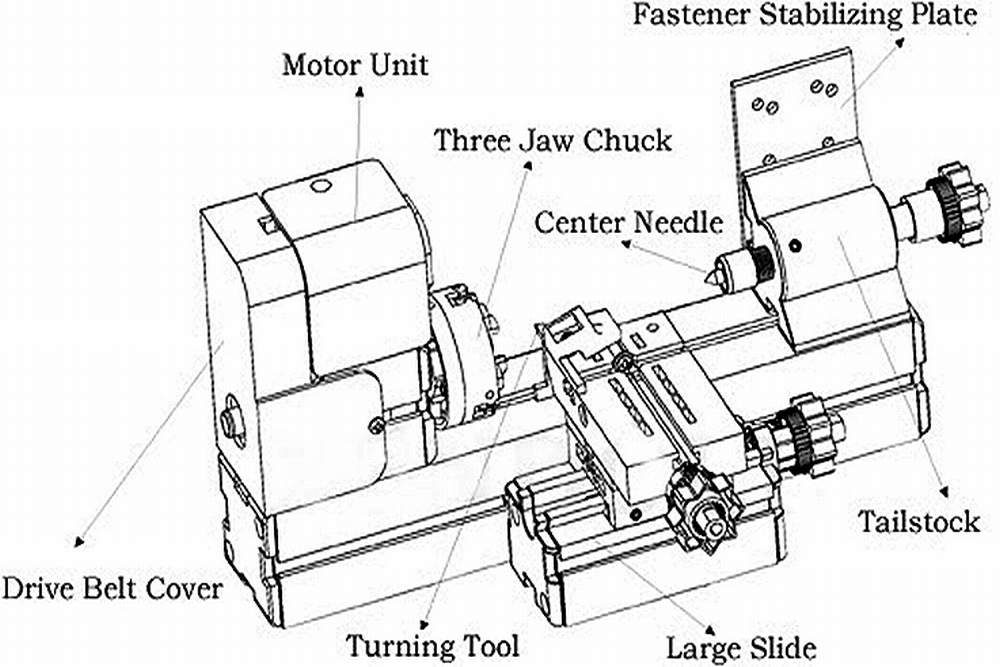 MINI LATHE MACHINE FULL MENTAL STRUCTURE TOOL FOR DIY
