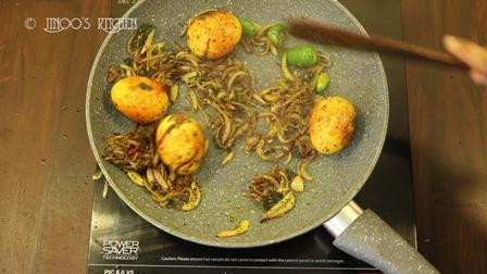 egg roast recipe   spicy egg roast dry   egg roast without tomato