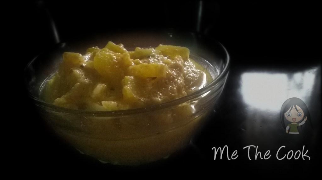 Kerala dishes   Thandu mathan pachadi ~ sweet pumpkin and banana stem curry