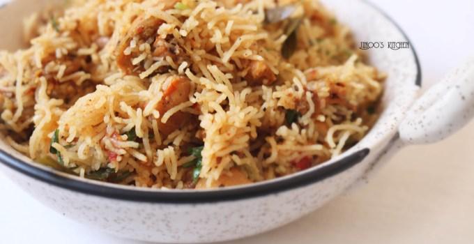 Chicken sevai recipe | Chicken santhavai recipe | Chicken idiyappam biryani
