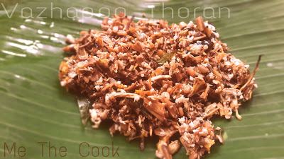 Vazhapoo Thoran ~ Vazhaipoo Porial ~ Banana flower stir fry ~  How to cook Vazhaipoo porial