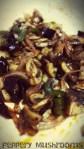Peppery mushrooms