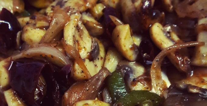 Peppery Mushrooms ~ Spicy Mushroom fry