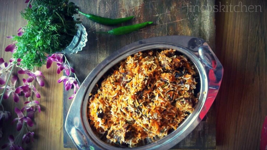 Dum Biryani Recipe ~ Mutton Dum Biryani Hyderabadi style