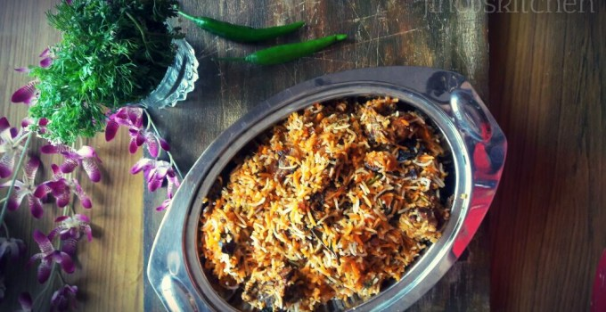 Dum Biryani Recipe ~ Mutton Dum Biryani Hyderabadi style