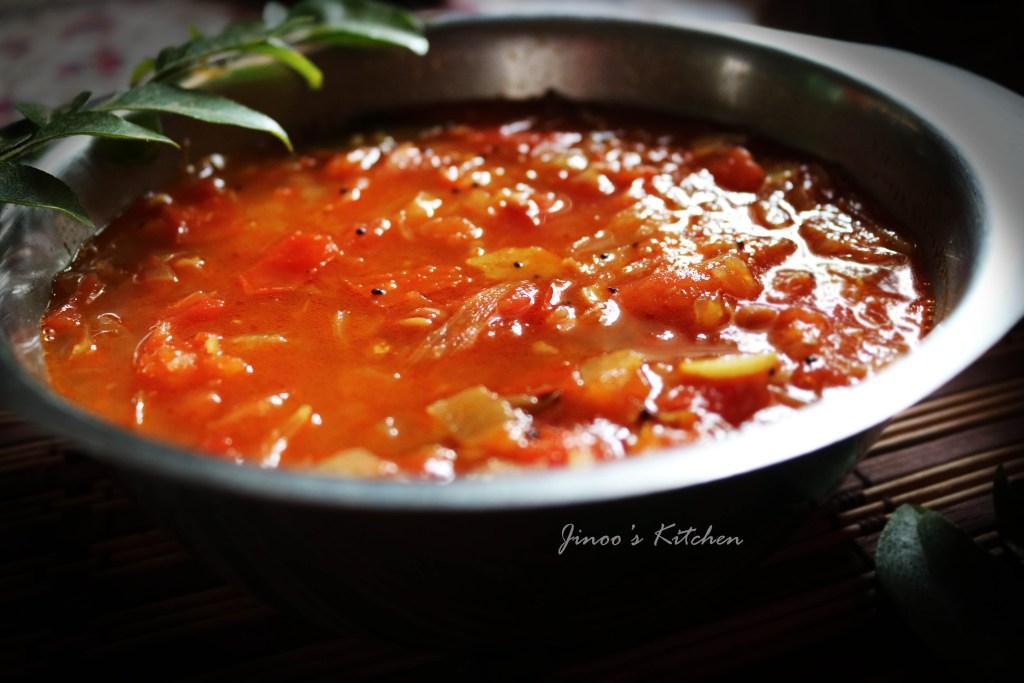 Thakkali bhaji ~ Thakkali Kadayal ~ Tomato Bhaji