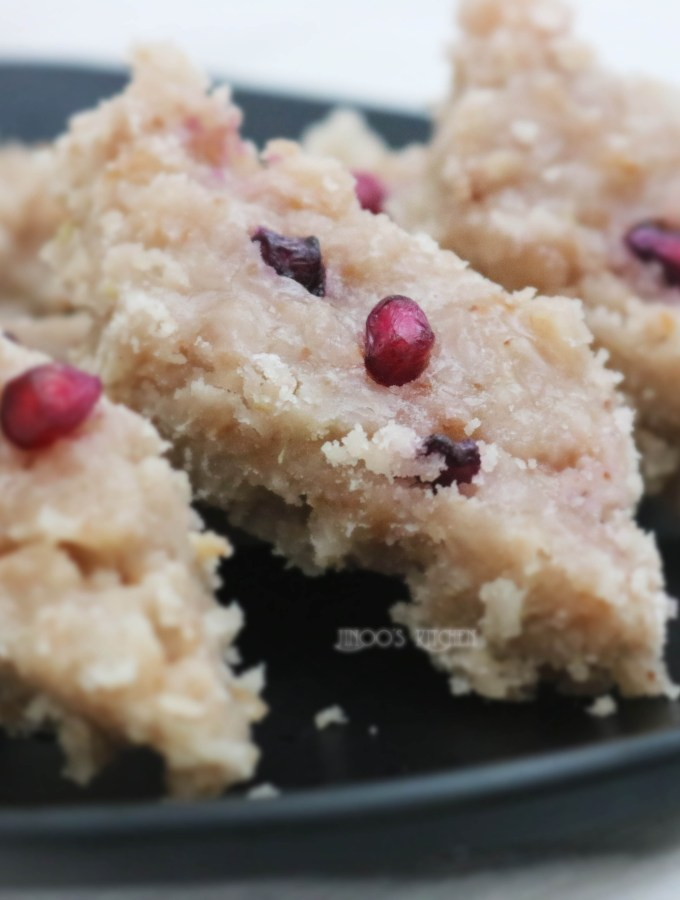 pomegranate burfi