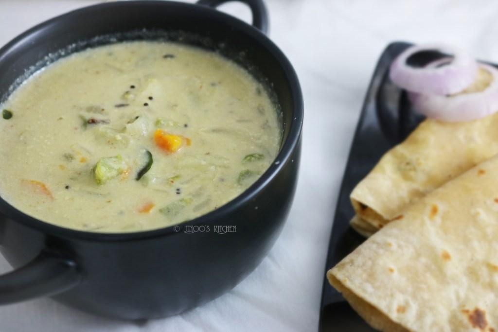 White Vegetable Kurma recipe | White kurma recipe hotel style