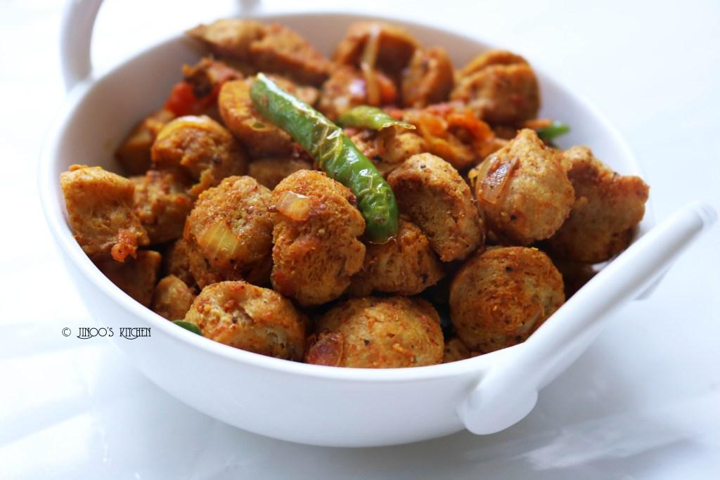 Spicy Soya chunks fry recipe | Meal maker fry recipe