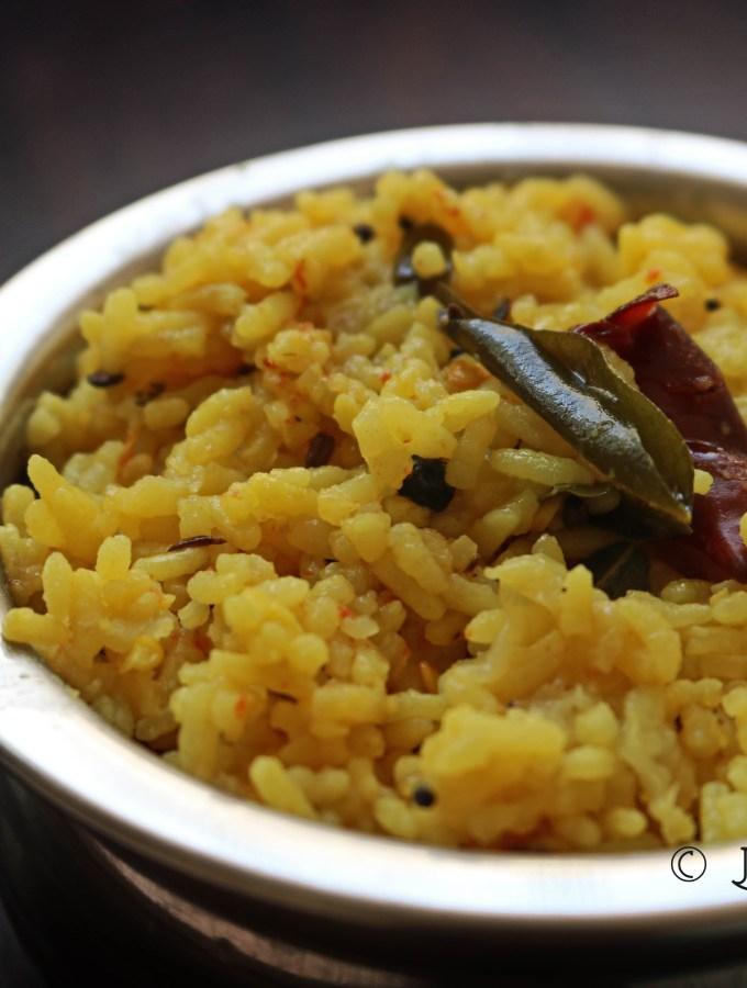 Arisi paruppu sadham recipe coimbatore style