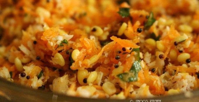 Kosambari recipe | carrot kosambari salad | carrot and moong dal salad