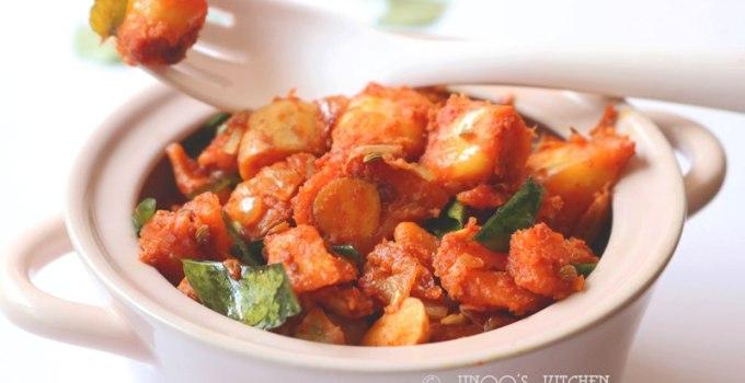 Raw jackfruit fry recipe | Chilli chakka recipe | jackfruit chilli recipe
