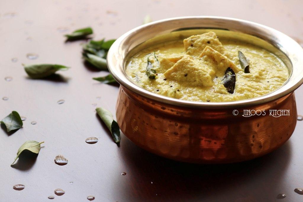 Sadhya Kalan recipe   Kurukku Kalan   katti kaalan   Onam vishu special  Yam in coconut curd mixture
