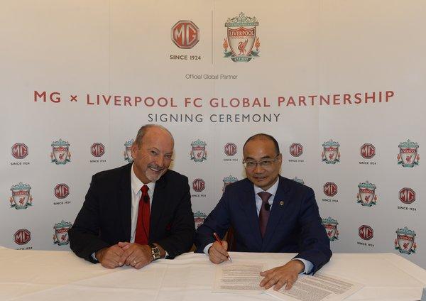 利物浦與MG名爵合作關係拓展至全球層面