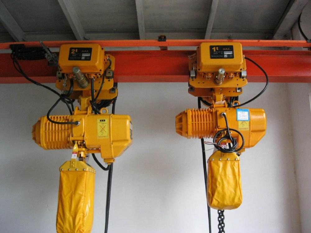 medium resolution of electric chain hoist