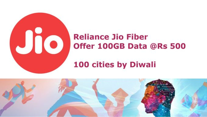 Jio Fiber connection launch by this diwali