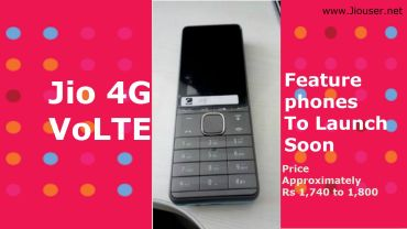 Jio 4G VoLTE Feature Phone