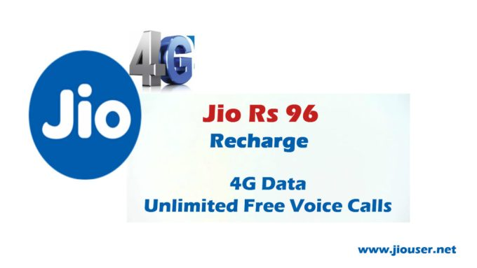 Jio 96 Recharge plan deatails