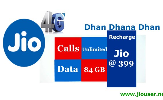 Jio dhan dhana dhan recharge online 399 plan details