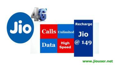 Jio 149 Recharge Online Plan Details