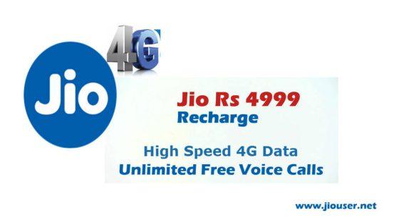 jio 4999 recharge plan details