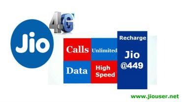 Jio 449 Recharge Plan Details