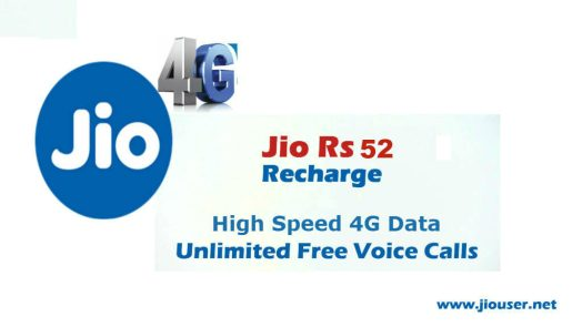 Jio Prepaid Rs 52 Recharge Plan | Unlimited Local, STD