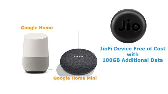 Jio Offers Google JioFi Device With 100GB Data Free