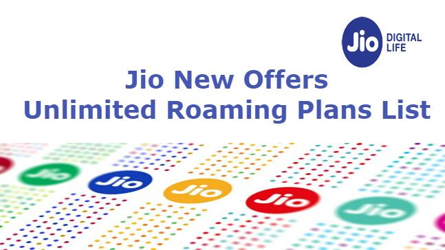 Unlimited Jio International Roaming Plans   Data Offers