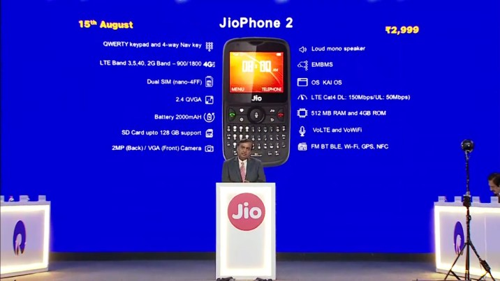 Jio phone 2 Specifications