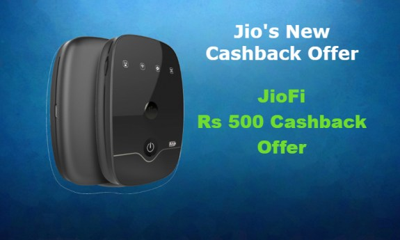JioFi Device Cashback Offer 500