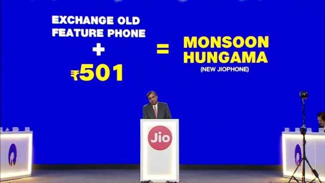 Jio Phone Monsoon Hungama Recharge Offer