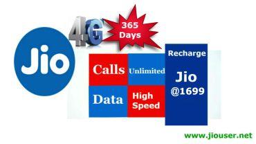 Jio 1699 Recharge Plan Details