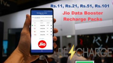 Jio Data Booster Recharge