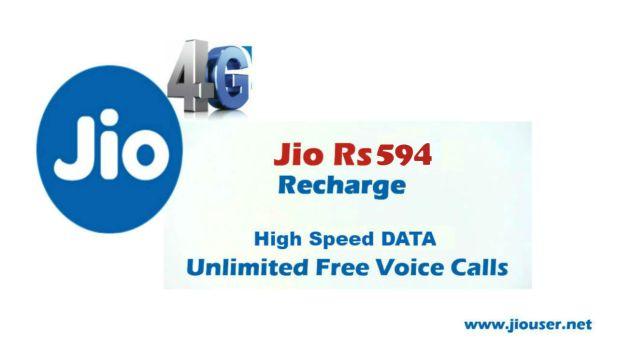 Jio Phone 594 Recharge Plan